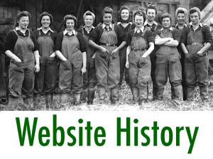 Women's Land Army.co.uk: Website History