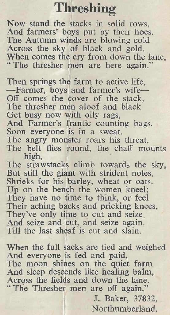 Threshing Poem, The Land Girl, March 1943, p10