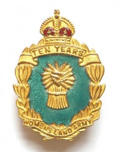 World War Two Women's Land Army 10 Years Service Badge (1949)