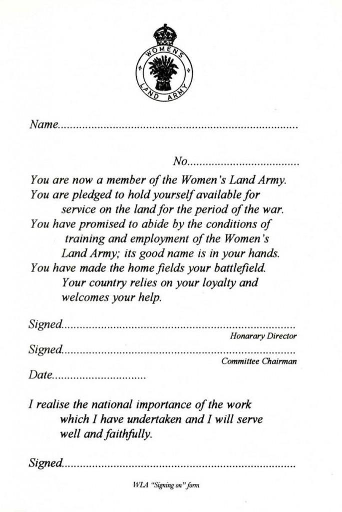 Blank WLA Pledge