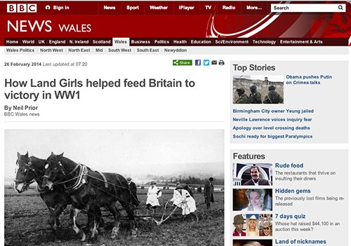 BBC Wales Article February 2014