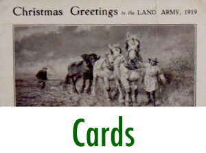First World War Women's Land Army Archive: Cards