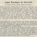 WW1 Land workers at Norwich celebrate the harvest festival (1918)
