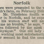 WW1 Positive reports of Land Girls working in Norfolk (1918)