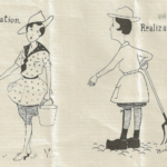 WW1 Women's Land Army Cartoon - Imagination and Realization