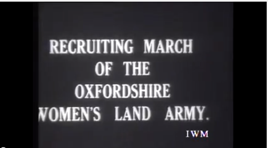 Women's Land Army Recruitment March in Oxfordshire