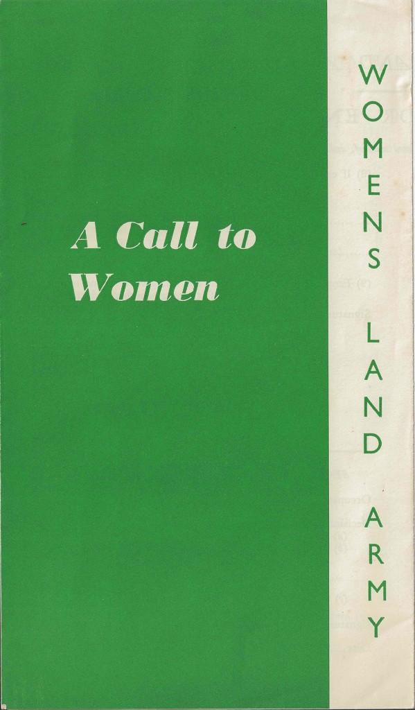 A Call To Women Leaflet Front Source: Rachel Brenda Lees