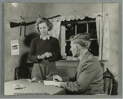 Four weeks training are over Iris Joyce receives her first weeks pay. Source: D8838, Northamptonshire Record Office. Courtesy of Dr David Wilson.