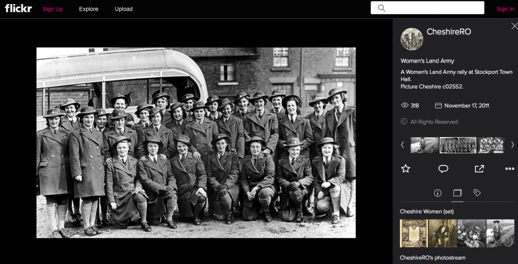 Cheshire Women's Land Army Rally at Stockport Town