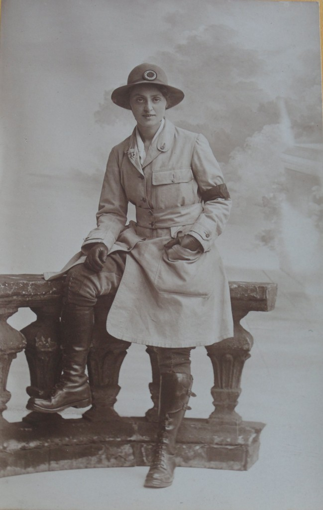 Land girl on Frederick Brown's Farm