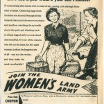 WW2: Women's Land Army Newspaper Recruitment Campaign