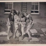 Land girls In front of Hope House