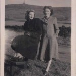 Land girl & Joan Birchall, somewhere in England