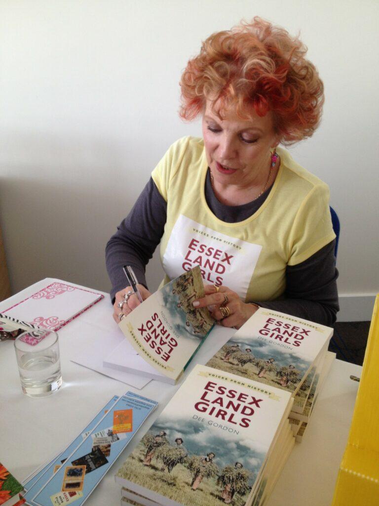 Dee Gordan signing copies of 'Essex Land Girls'