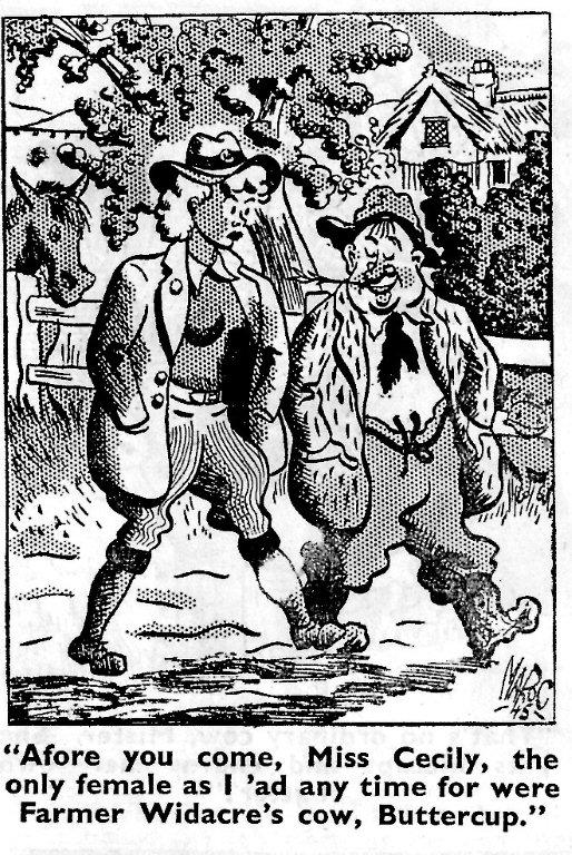 Females a novelty on the land cartoon. Source: Laughs Around The Land Courtesy of Stuart Antrobus.