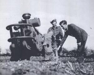 'Liz' Day tests a new rotavator for market gardens Source: Courtsey of Stuart Antrobus