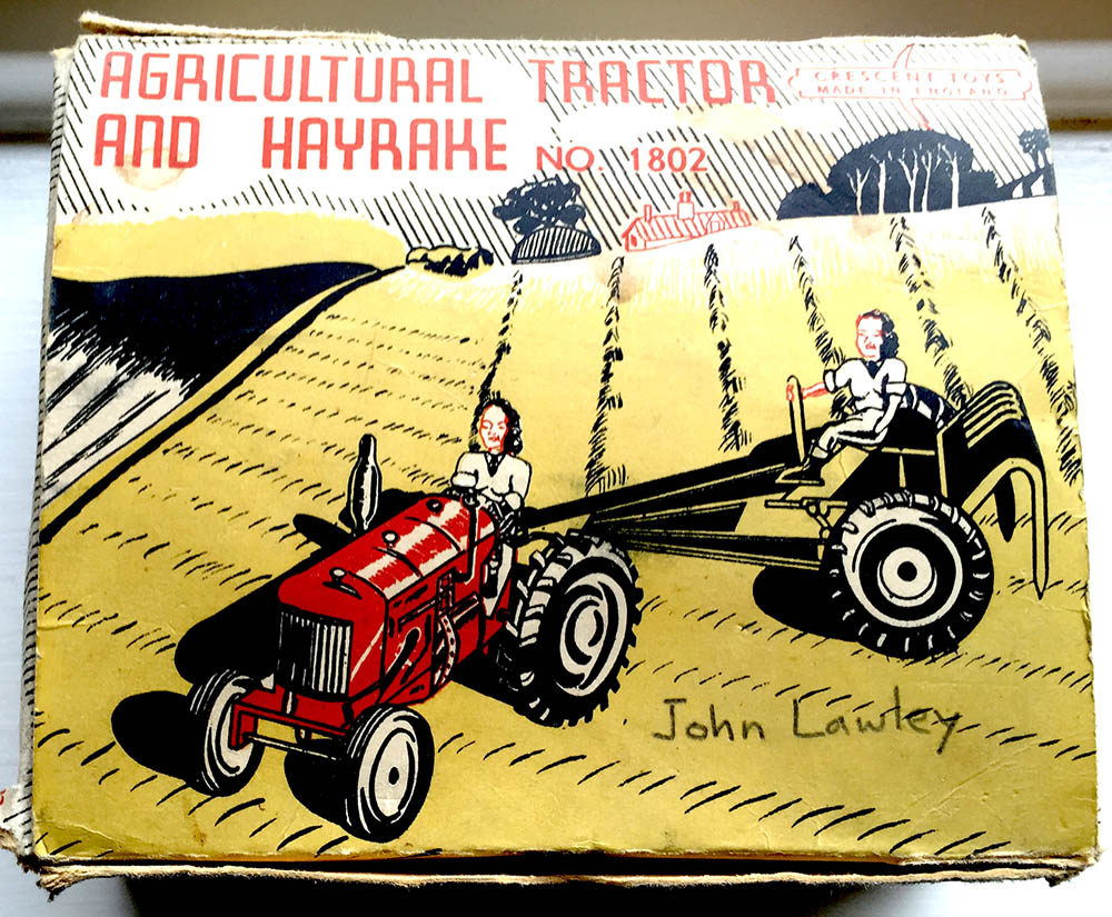 Tractor Toy Packaging Source: Catherine Procter Women's Land Army Collection