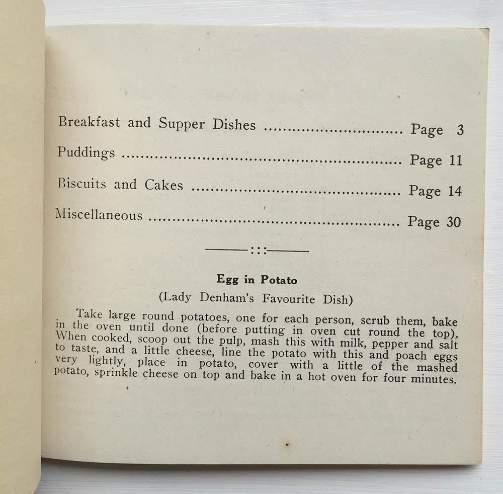 Women's Land Army Wales Receipe Book Inside