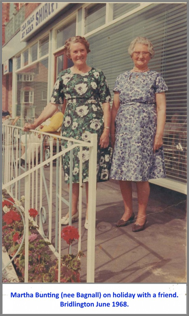 The original photo: Martha and her friend in Bridlington June 1968.