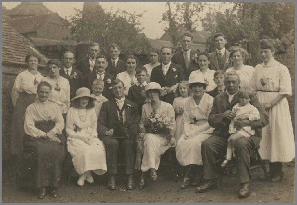 Martha Bunting's (nee Bagnall) wedding in 1922