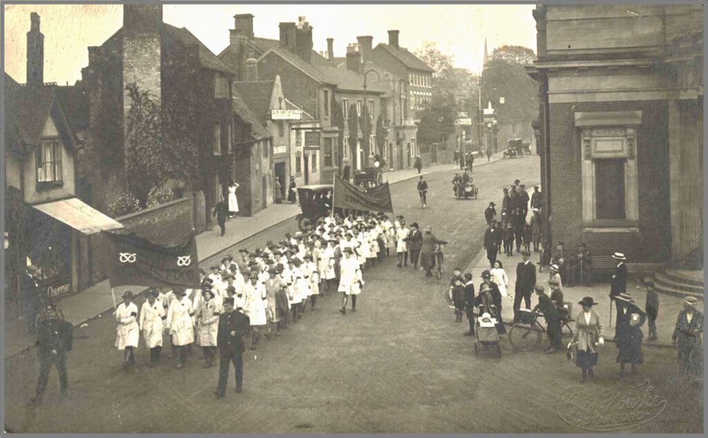 Stafford Parade through town, 1919