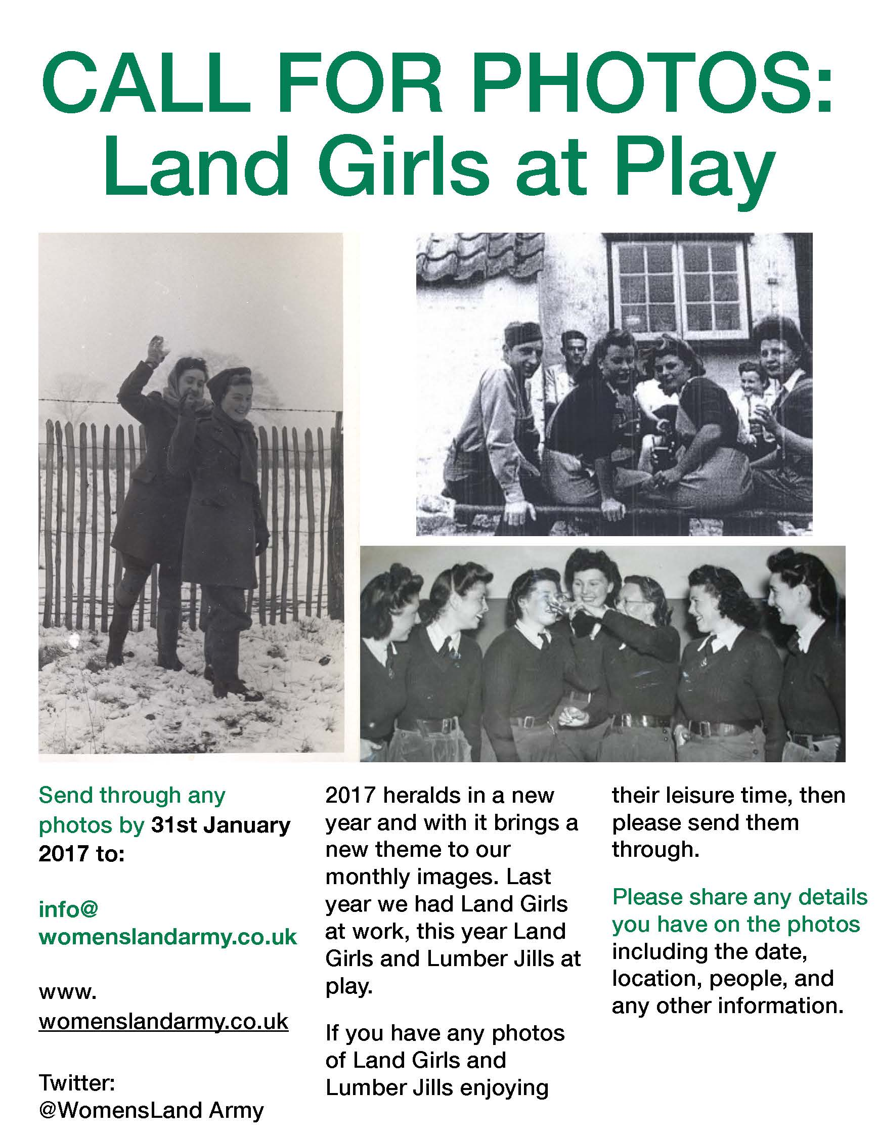 Call for Photos: Land Girls at Play