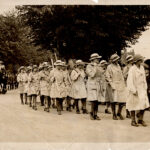 Women farm workers from Crescent School in procession on 27th May 1918
