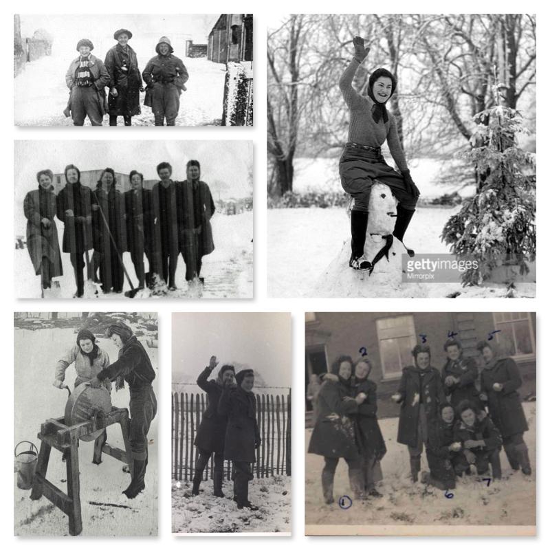 Land Girls and Lumber Jills Snow Collage