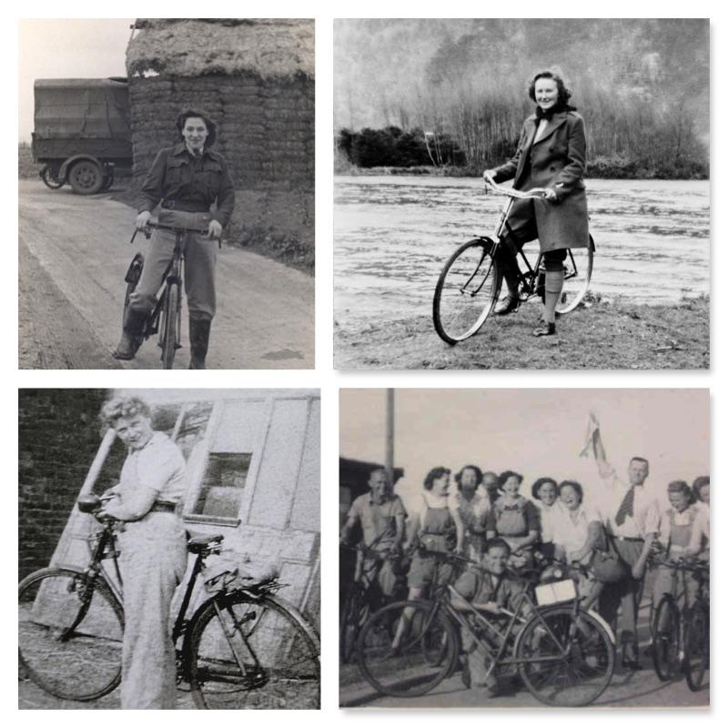 Land Girls and Lumber Jills on Bikes