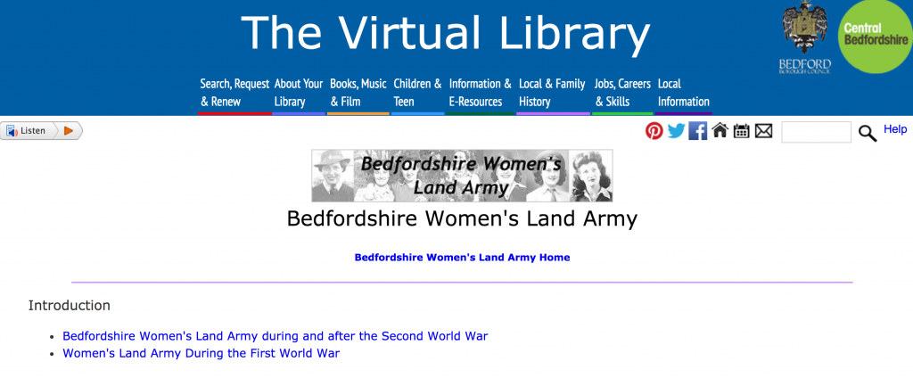 Stuart Antrobus, author of 'We Wouldn't Have Missed it For the World: The Women's Land Army in Bedfordshire'.