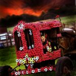 Artist pays tribute to Women's Land Army with poppy display