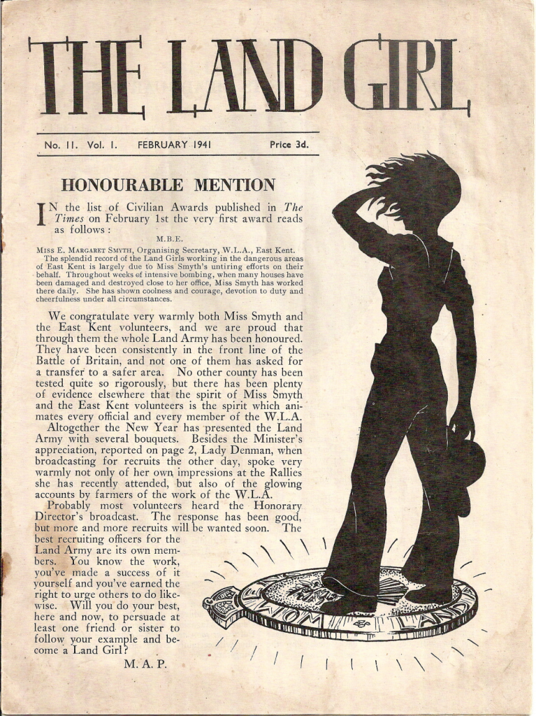 February 1941 edition of The Land Girl