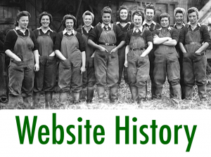 Women's Land Army.co.uk: Website History