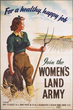 For a healthy happy job, join the Women's Land Army.