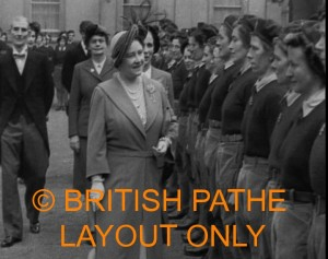 Queen Inspects the Women's Land Army in 1950. Click the image to see the British Pathe footage from 1950.