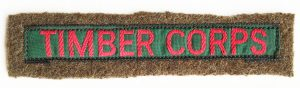 Timber Corps Sew On Arm Badge Source: Catherine Procter Collection