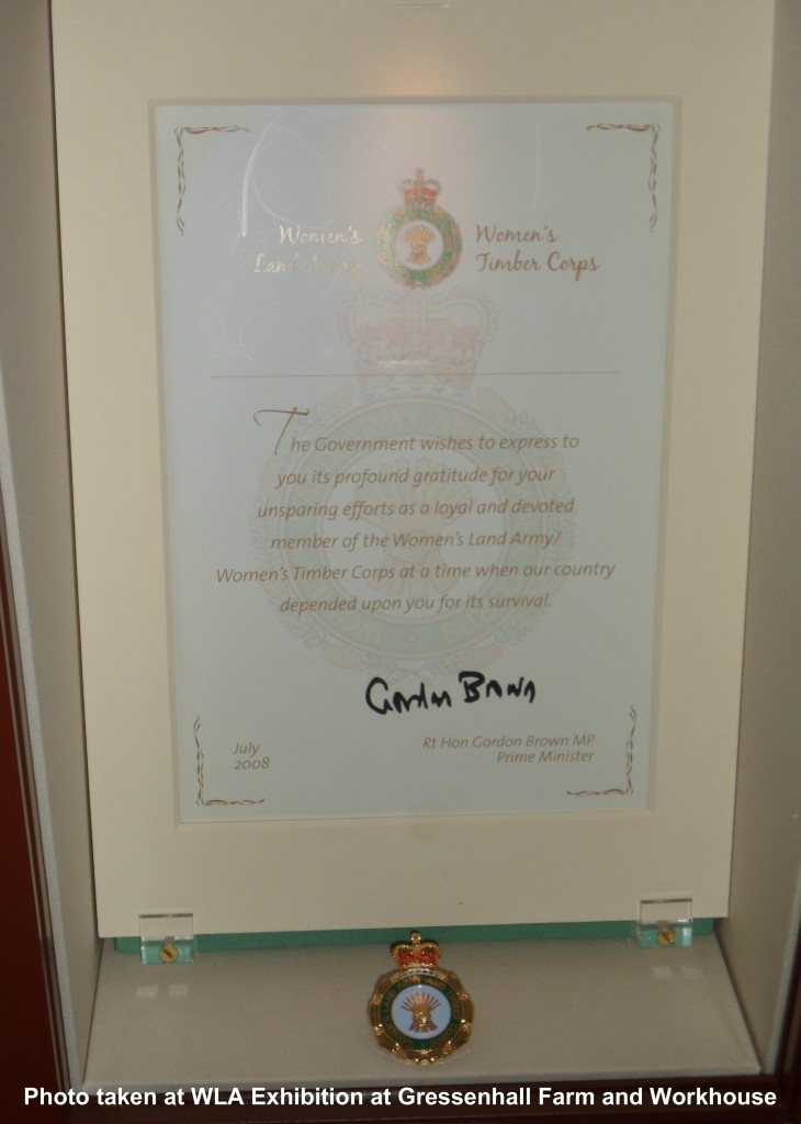 WLA Certificate From Gordon Brown