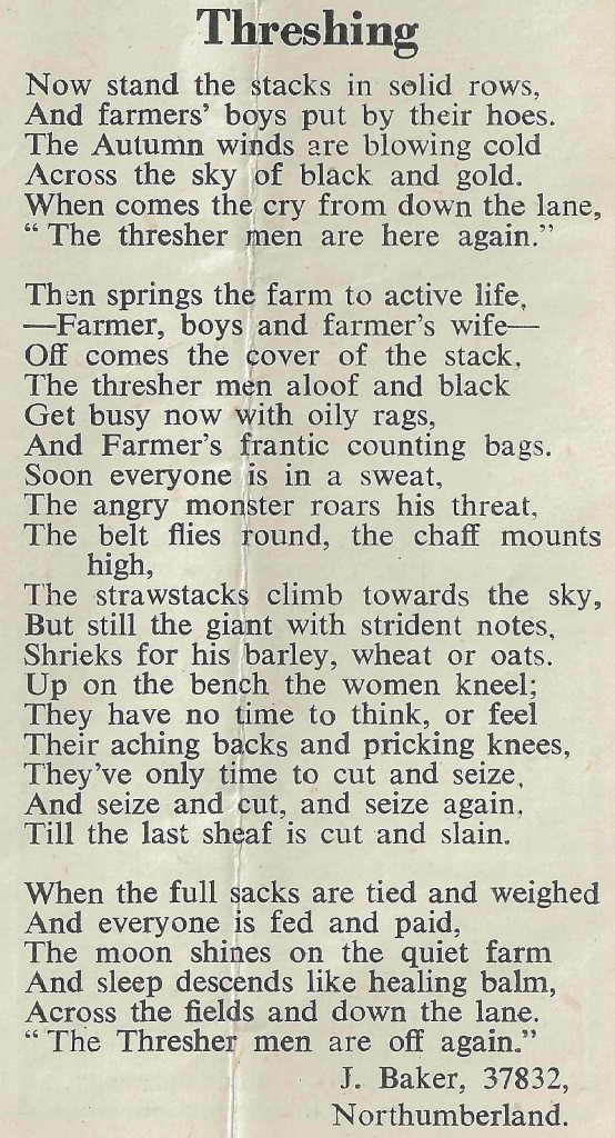Threshing Poem, The Land Girl, March 1943, p10