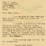 WW2 Uniform Issue Letter