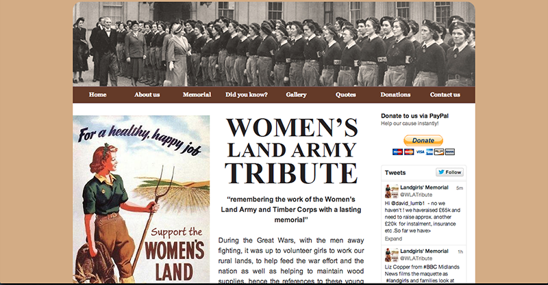 Women's Land Army Tribute Website