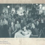 Xmas Party meal Leighton Buzzard WLA hostel Dec 1947