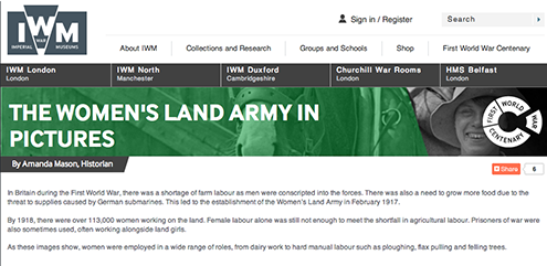 IWM Women's Land Army In Pictures