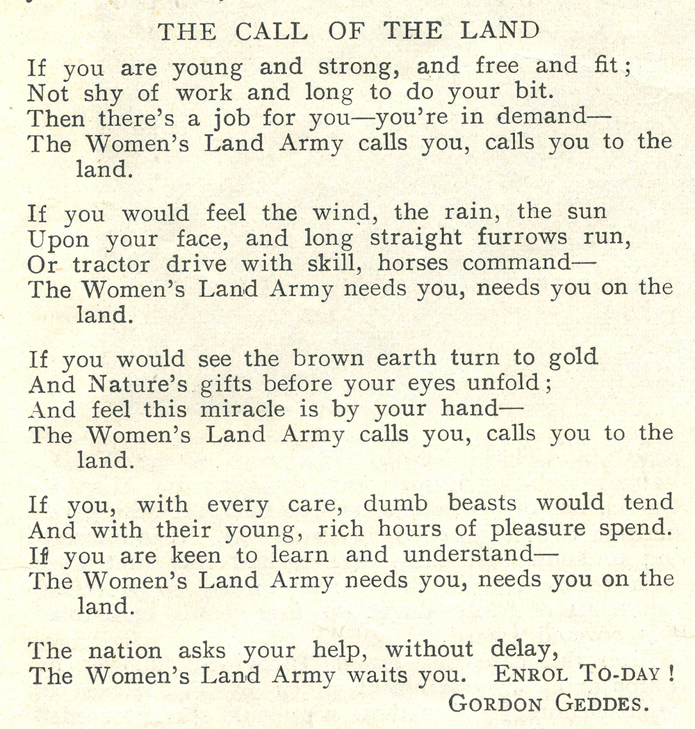 Wow Recruiters And Land Interviews: Women's Land Army.co.uk