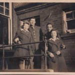 Frank, Jessie, Freddie & Joan Birchall 1943