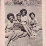 Land girls at the beach