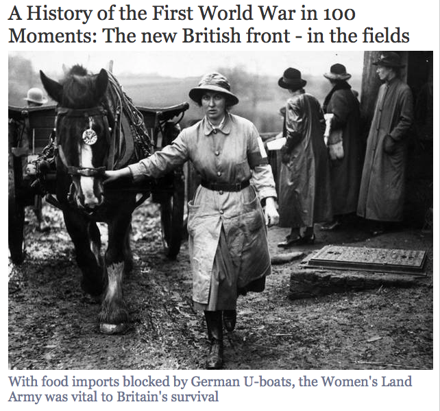A link to an article from The Independent. A History of the First World War in 100 Moments: The new British front - in the fields