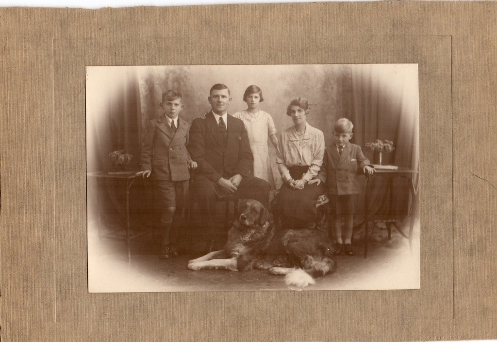 Joan and Geoff Shutte Archive Photo 24 Geoff: 'Mum with her family and dog'