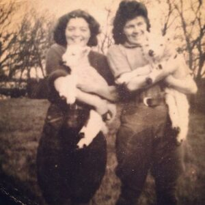 Nancy Jones (nee Charles) and another rLand Girl. Source: Ceri Jones (Nancy's grand-daughter)