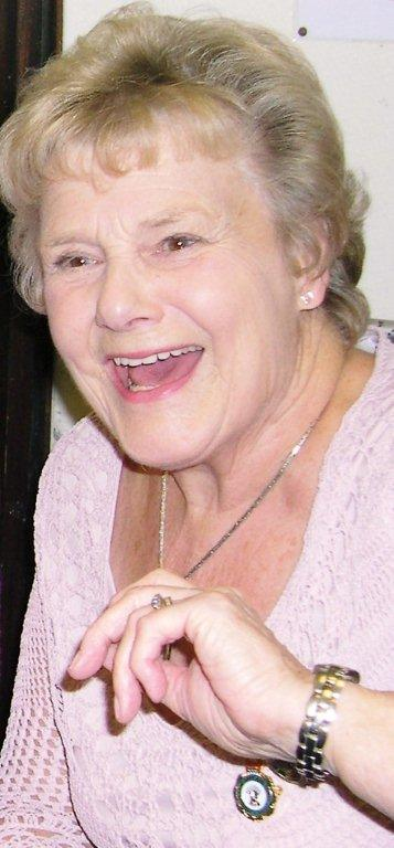 """Zeita enjoying a laugh at the launch, October 2008, of Stuart Antrobus's book """"We wouldn't have missed it for the world"""" on the WLA in Bedfordshire in the 1940s."""