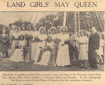 May Day Queen, 1945, Myra Griffiths, in Bedfordshire Courtesy of Stuart Antrobus.